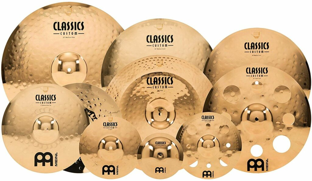 Meinl Cymbals CC4680-TRB Classics Custom Pack Triple Bonus Cymbal Box Set with FREE 8- Bell, FREE 10- Splash and FREE 12- Trash Splash