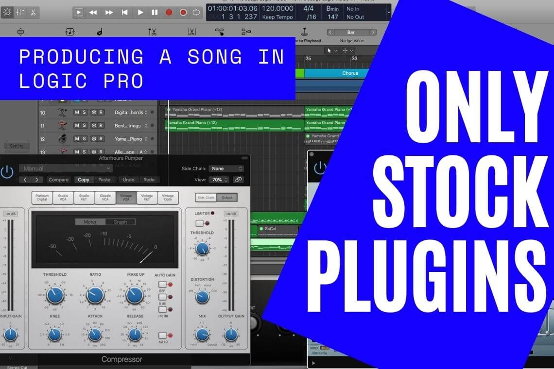 Producing a Song Using ONLY STOCK PLUGINS & INSTRUMENTS! LOGIC PRO X Liel Bar-Z -To The Judge