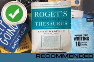 Songwriting Thesaurus Roget's International Thesaurus