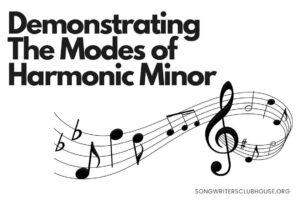 demonstrating the modes of harmonic minor