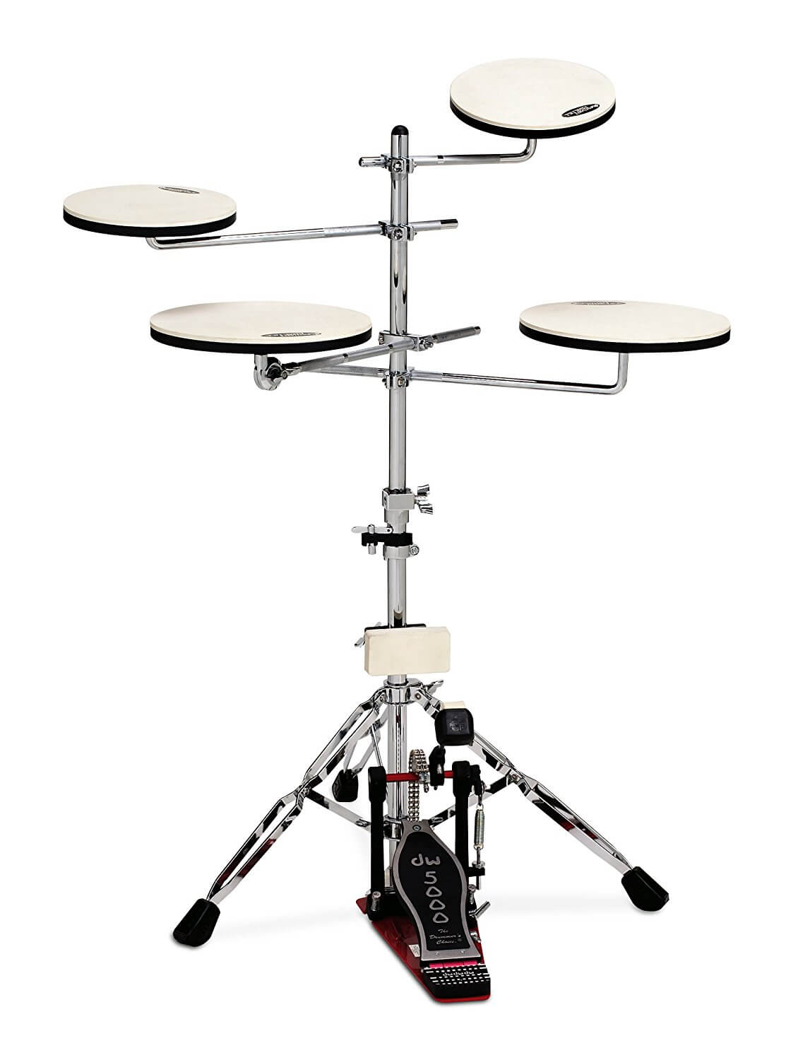 gift-for-drummers-DW-Drum-Workshop-CPPADTS5-Go-Anywhere-Pad-Set-with-Stand